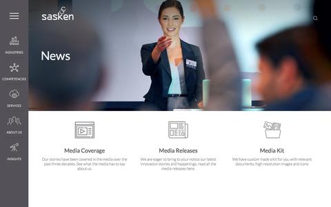 Screenshot of Press Page sasken.com - News   Sasken Communication Technologies Ltd. - captured Nov. 19, 2016