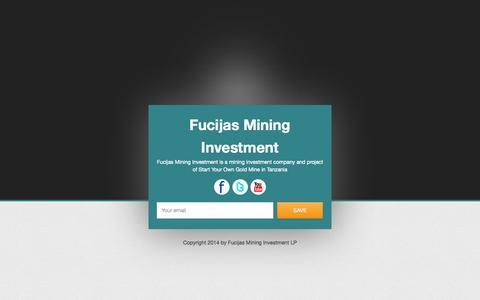 Screenshot of Home Page fucijasmining.com - Fucijas Mining Investment Company - captured Oct. 5, 2014