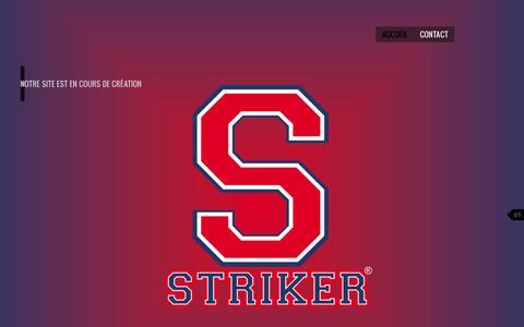Screenshot of Home Page striker.fr - STRIKER SPORTSWEAR - équipementier sportif - captured Aug. 15, 2015