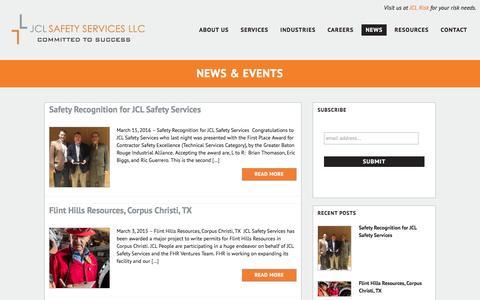Screenshot of Press Page jclsafety.com - News & Events – JCL Safety - captured Nov. 18, 2016