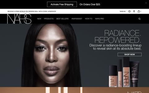 Screenshot of Home Page narscosmetics.com - NARS Cosmetics | The Official Store | Makeup and Skincare - captured Jan. 16, 2019