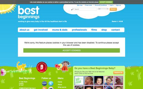 Screenshot of Login Page bestbeginnings.org.uk - Best Beginnings | Login - captured Oct. 5, 2014