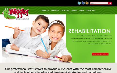 Screenshot of Home Page wigglesrehab.com - Wiggles Children's Rehab | Home - captured Oct. 7, 2014