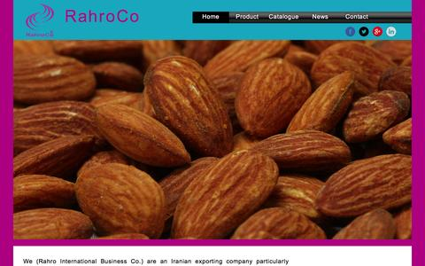 Screenshot of Home Page rahroco.com - Rahro Co - captured Jan. 12, 2016