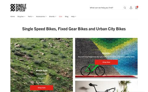 Screenshot of Home Page single-speed.co.uk - Single Speed Bikes and Accessories   Single Speed Co. - captured Dec. 17, 2018