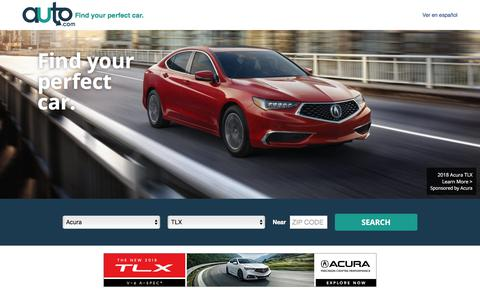Screenshot of Home Page auto.com - Used Cars and New Cars | Auto.com - captured June 20, 2017
