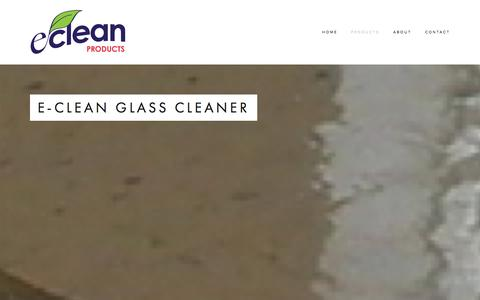 Screenshot of Products Page e-cleanproducts.com - Products — e-clean Products - captured Oct. 28, 2014
