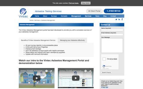 Screenshot of Team Page vinteclabs.com - Asbestos Management - Vintec Environmental Management - captured Oct. 21, 2017