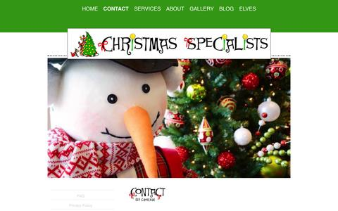 Screenshot of Contact Page christmasspecialists.com - Contact the Christmas Specialists - captured Oct. 28, 2014