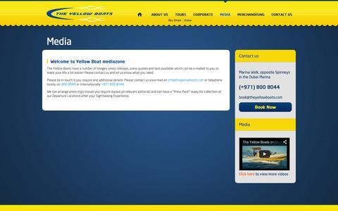 Screenshot of Press Page theyellowboats.com - Media   Yellow Boats - captured Nov. 5, 2014