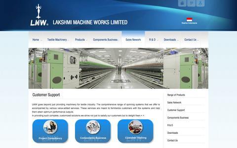 Screenshot of Support Page lakshmimach.com - Customer Support | LAKSHMI MACHINE WORKS LIMITEDLAKSHMI MACHINE WORKS LIMITED - captured Oct. 22, 2014