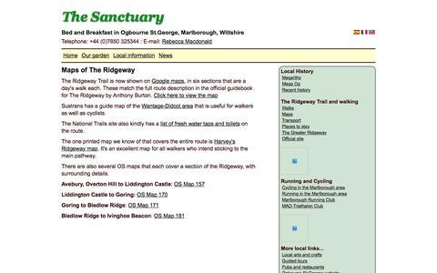 Screenshot of Maps & Directions Page the-sanctuary.biz - Maps of The Ridgeway - captured Nov. 17, 2017