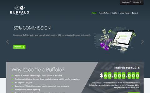Screenshot of Home Page buffalopartners.com - Buffalo Partners - captured Jan. 22, 2015
