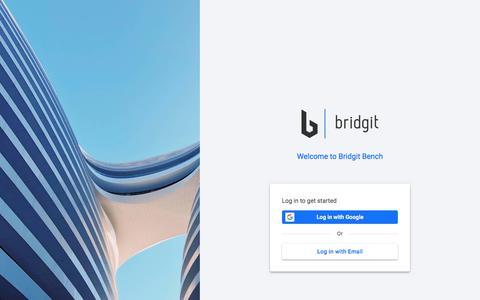 Screenshot of Login Page gobridgit.com - Bridgit Bench - captured Dec. 25, 2019
