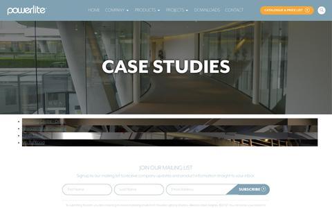 Screenshot of Case Studies Page powerlite-lighting.com - Case Studies - Powerlite Ltd - captured Sept. 29, 2018