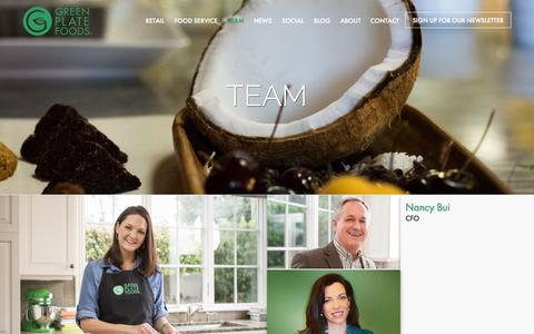 Screenshot of Team Page greenplatefoods.com - Team - Green Plate Foods | Nutrient-Rich Snacks   Meals - captured Sept. 30, 2014