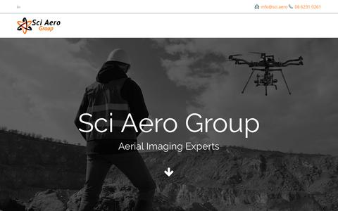 Screenshot of Home Page sci.aero - Aerial Imaging Services in Western Australia | Sci Aero Group - captured Dec. 16, 2018