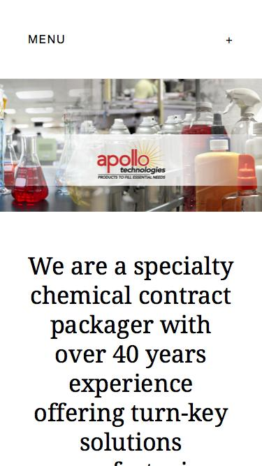 Screenshot of Home Page  apolloind.com - Apollo Technologies