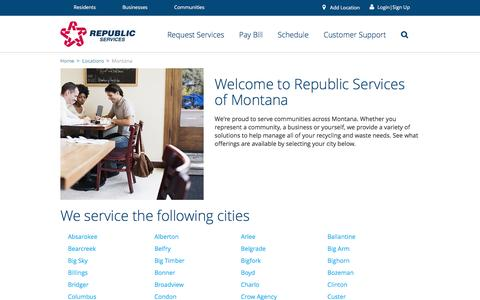 Recycling and Waste in Montana - Republic Services