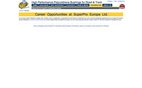 Screenshot of Jobs Page superpro.eu.com - Career Opportunities at SuperPro Europe Ltd.   SuperPro Europe Ltd. - captured Oct. 7, 2014