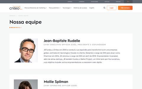 Screenshot of Team Page criteo.com - Nossa Equipe | Criteo - captured May 15, 2018