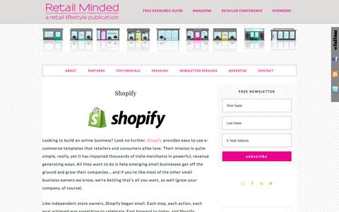 Screenshot of retailminded.com - Shopify - captured March 29, 2017