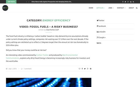 Energy Efficiency – CleanTechies