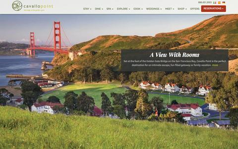 Screenshot of Home Page cavallopoint.com - San Francisco Luxury Resorts   Cavallo Point   Sausalito Hotels in California - captured Sept. 24, 2014