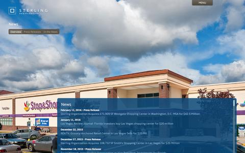 Screenshot of Press Page sterlingorganization.com - News | Sterling Organization - captured Feb. 25, 2016