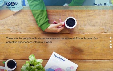Screenshot of Team Page prime-access.com - People - Prime Access - captured Dec. 12, 2015
