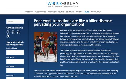 Screenshot of Blog work-relay.com - Blog- Work-Relay - captured Sept. 22, 2015