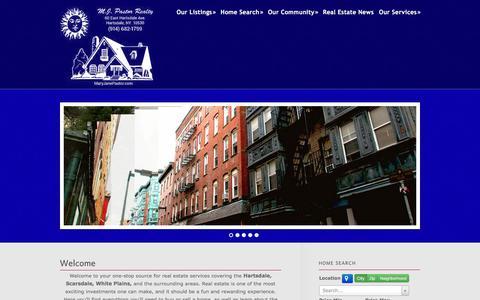 Screenshot of Home Page maryjanepastor.com - Mary Jane Pastor - captured Jan. 22, 2016