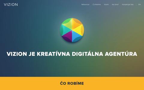 Screenshot of Home Page vizion.sk - Vizion | reklamná agentúra - captured March 4, 2016