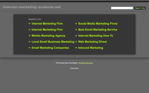 Screenshot of Home Page internet-marketing-products.net - Internet-Marketing-Products.net - captured Sept. 11, 2015