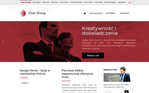 Screenshot of Home Page over-group.pl - Over Group - grupa kapitałowa - captured Oct. 7, 2014