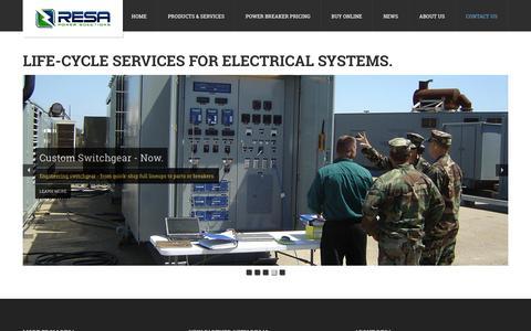 Screenshot of Home Page resapower.com - RESA Power Solutions - captured Feb. 25, 2016
