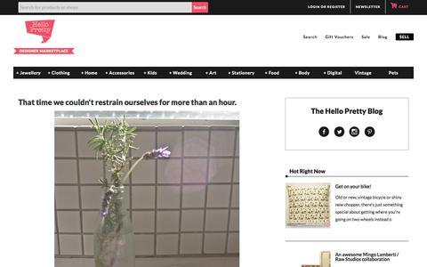 Screenshot of Blog hellopretty.co.za - Blog   Hello Pretty. Buy design. - captured July 21, 2015