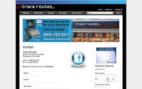 Screenshot of Contact Page tracerts.com - Contact - Trace Routes - captured Oct. 6, 2014