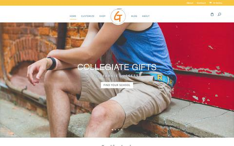 Screenshot of Home Page goodthreadsllc.com - Needlepoint Belts & More by Good Threads - captured July 21, 2018