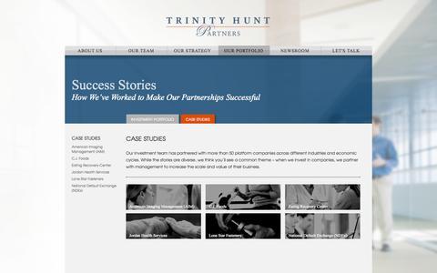 Screenshot of Case Studies Page trinityhunt.com - Case Studies - Trinity Hunt Partners - captured Oct. 8, 2014