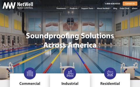 Screenshot of Home Page controlnoise.com - Acoustic Soundproofing Panels | Soundproofing Products + Services - captured June 27, 2017