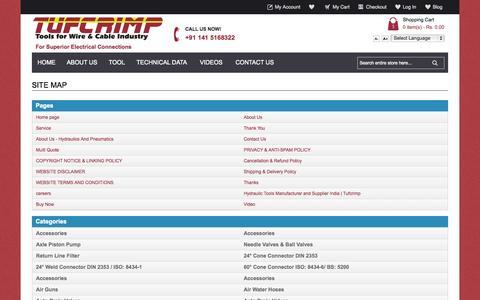 Screenshot of Site Map Page tufcrimp.com - TufCrimp - captured Oct. 9, 2014