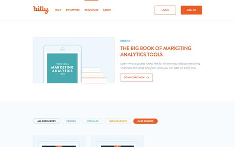 Screenshot of Case Studies Page bitly.com - Bitly | Resources to Help Your Marketing Strategies - captured Jan. 6, 2016