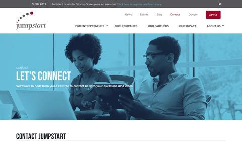 Screenshot of Contact Page jumpstartinc.org - Contact JumpStart Inc | Careers at JumpStart Inc - captured April 19, 2019