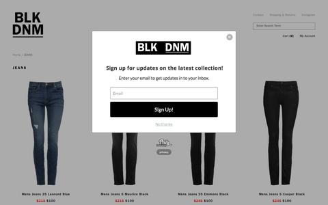 LUXURY DENIM JEANS — BLK DNM