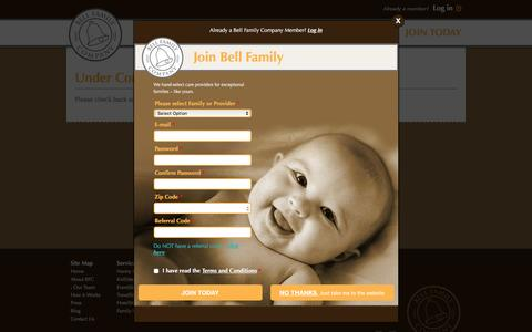 Screenshot of Site Map Page bellfamilycompany.com - Bell Family Company - captured Feb. 6, 2016
