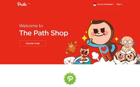 Screenshot of path.com - Path - captured March 27, 2017