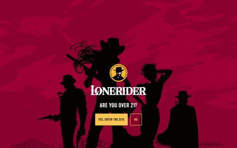 Screenshot of Press Page loneriderbeer.com - Press | Lonerider : Ales For Outlaws - captured Nov. 29, 2017