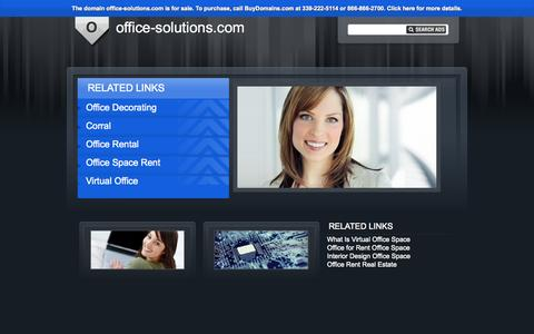 Screenshot of Home Page office-solutions.com - This domain may be for sale. Contact Buydomains.com. - captured Sept. 30, 2014