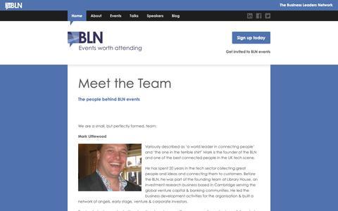 Screenshot of Team Page thebln.com - Meet the Team | The BLN - captured Oct. 19, 2018